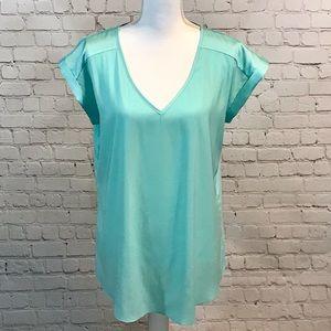 ♥️Express turquoise short sleeve blouse top shirt